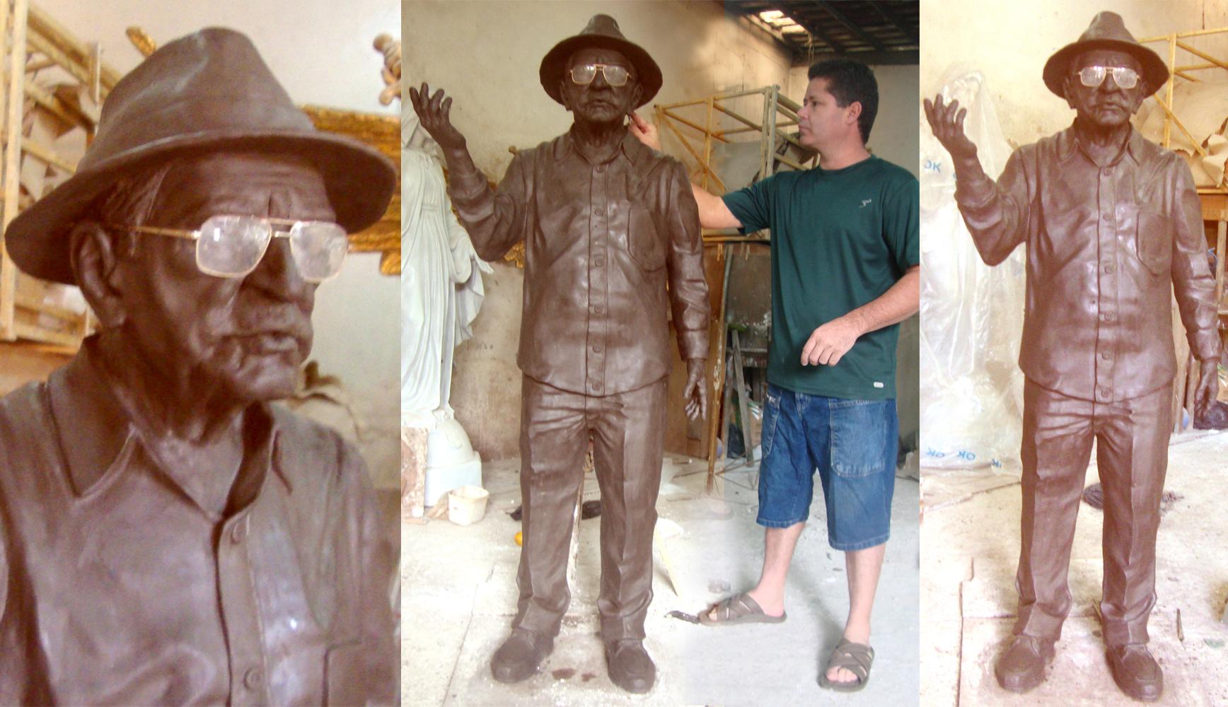 Busto bronze patativa do assare