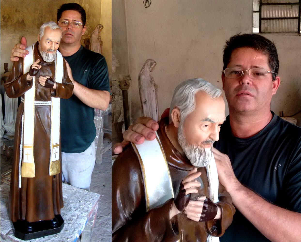 Padre Pio com estola